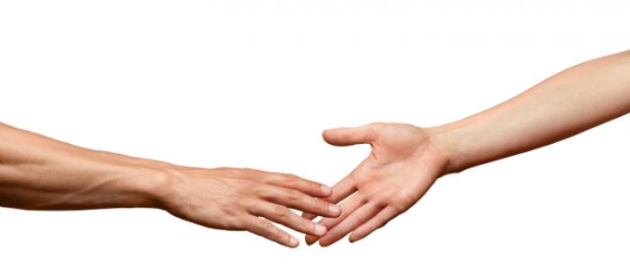 Paare Hände